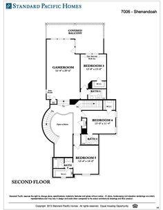 Standard Pacific Shenandoah 2d Floor
