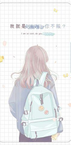 Cute Anime Girl Wallpaper, Cute Pastel Wallpaper, Cute Patterns Wallpaper, Images Wallpaper, Kawaii Wallpaper, Manga Anime Girl, Anime Girl Drawings, Kawaii Drawings, Kawaii Anime Girl