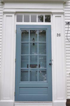 Benjamin moore stratton blue front door beautiful screen for Exterior door with screen built in