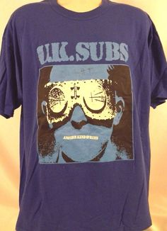 UK SUBS - Another Kind Of Blues Shirt Autographed by Charlie Harper size XL RARE