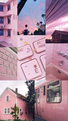 Wallpaper Pink And Orange, Pink Wallpaper Iphone, Wallpaper Backgrounds, Wallpaper Lockscreen, Aesthetic Pastel Wallpaper, Aesthetic Backgrounds, Aesthetic Wallpapers, Collage Background, Photo Wall Collage