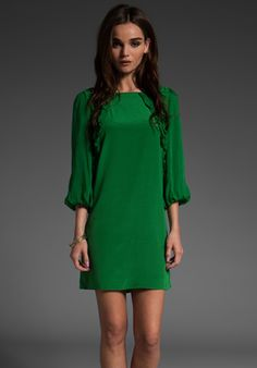 simple green dress.