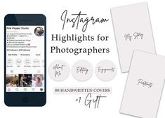 80 Instagram Story Highlight Covers for Photograhpers. Neutral color + handwritten fonts + Instagram Story quote gift Instagram Highlight Icons, Instagram Icons, Instagram Highlights, Templates   Are you a professional photographer? Than you know, that one of the best free marketing tool is your Text Icons, Handwriting Styles, Custom Icons, Story Quotes, Gift Quotes, Instagram Highlight Icons, Story Highlights, Mini Sessions, Marketing Tools