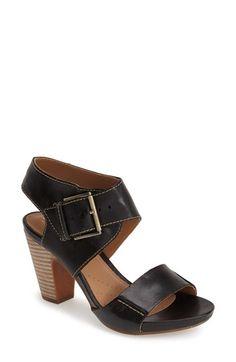 b51f202b129e8 Clarks®  Okena  Stacked Heel Leather Sandal (Women)