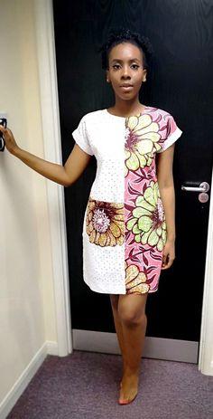 African Ankara Print Shift Dress