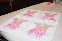 handprint tutu party activity