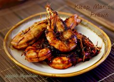Dark sweet sauce prawn - the only complaint is that the sauce is not enough!