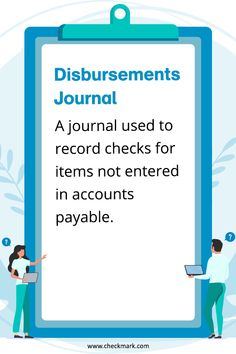Disbursements Journal: A Journal Used to record checks for items not entered in accounts payable. Small Business Accounting Software, Accounting Classes, Accounting Basics, Accounting Books, Accounting Student, Bookkeeping And Accounting, Bookkeeping Business, Accounting And Finance, Accounting Services