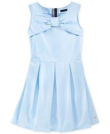 Tommy Hilfiger Girls' Bow-Front Dress