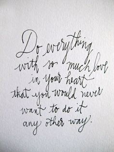 do everything with love quote image | Do everything with love #Quote | Thoughts That Inspire
