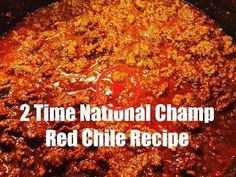 Red Beef Chili Recipe (Two Years National Champion Recipe) This red beef chili recipe (aka Sahara Chili) won the CASI Terilingua International Chili championship in 2005 & If you're looking to. Beef Chili Recipe, Chilli Recipes, Best Hot Dog Chili Recipe, Texas Chili Recipe No Beans, Paula Deen Chili Recipe, Simple Chili Recipe, Southern Chili Recipe, One Pot Dinners, Chili Con Carne