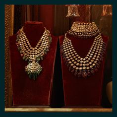 """41.7k Likes, 116 Comments - Sabyasachi Mukherjee (@sabyasachiofficial) on Instagram: """"A pair of classic multi-layered uncut diamond necklaces crafted with peals, tourmalines, corals,…"""""""