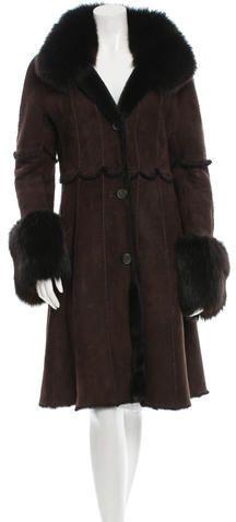 Dennis Basso Shearling Fox-Trimmed Coat Dennis Basso, Fox, Stylish, Women, Women's, Foxes, Red Fox