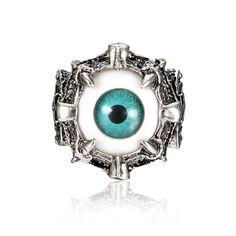 Sale 18% (2.47$) - Punk Blue Evil Eye Dragon Claw Vintage Retro Men Ring Jewelry