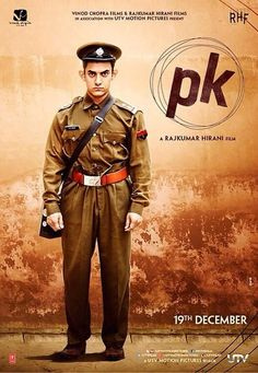 Aamir Khan in third poster of 'pk'. #Bollywood #Movies