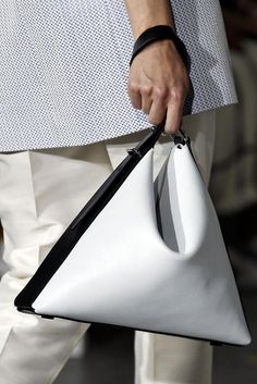Black & white leather bag, chic fashion details // 3.1 Phillip Lim Spring 2015
