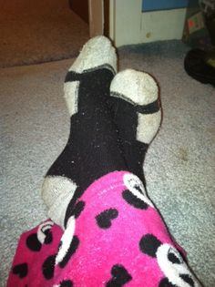 Around these parts if you are missing socks and it's either my daughter, my fiance or me … chances are the daughter or I stole them.