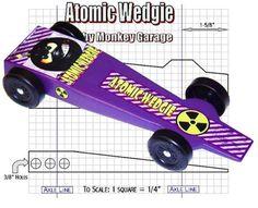 Atomic Wedgie Pinewood Derby Design