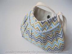 chevron purse  DIY