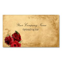 Elegant Red Rose Vintage Antique Business Card Templates. This is a fully customizable business card and available on several paper types for your needs. You can upload your own image or use the image as is. Just click this template to get started!