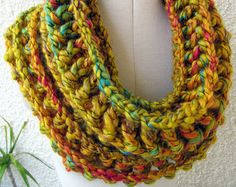 Chunky Infinity Scarf Pattern Instant Download PDF File. Fast & Easy Crochet Tutorial Pattern.  If you know to crochet, make it for yourself or make it for a gift! Youll be surprised how easily and quickly you can crochet this beautiful scarf! You will look really great in this truly unique and gorgeous autumn scarf. TUTORIAL CROCHET PATTERN PDF FILE 8 pages with detailed step-by-step written instructions in U.S. crochet terms, a lot of photos for your convenience, with tutorial pictures…
