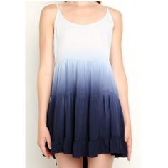 Blue Obmré Jada Good condition, has two minor holes, one I tried to add some tread to cover it and the other I just found and the seller never told me about  it's still very wearable and valuable as it is rare so the price will still be high. Will trade for other rare Brandy Brandy Melville Dresses