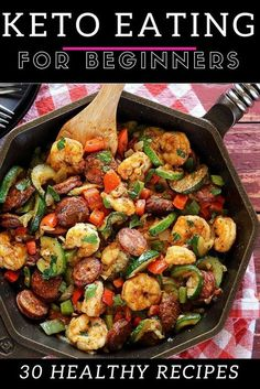 These easy keto recipes for my ketogenic diet are the BEST! Great ketogenic recipes for keto diet beginners! Love these keto dinners, keto breakfast, keto desserts, keto lunches, keto casseroles…More 12 Guilt Free Keto Dinner Recipes Ketogenic Recipes, Diet Recipes, Cooking Recipes, Paleo Keto Recipes, Keto Shrimp Recipes, Recipies, Keto Desert Recipes, Keto Pasta Recipe, Atkins Recipes