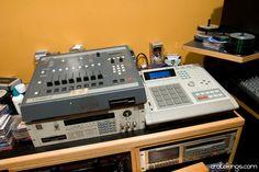 DJ Spinna's Studio — #MPC 3000, SP1200, and S950