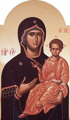 Παναγία Οδηγήτρια / Theotokos Hodegetria I Love You Mother, Mother Mary, Russian Icons, Byzantine Icons, Holy Mary, Early Christian, Madonna And Child, Blessed Virgin Mary, Orthodox Icons