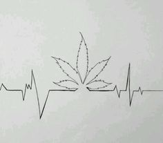 Image result for ekg weed tattoo