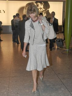 Anna Wintour Photos Photos - Vogue editor-in-chief Anna Wintour arrives at Heathrow Airport from New York at the start of London Fashion Week on September 14, 2013. - Vogue Editor In Chief Anna Wintour Arrives At Heathrow Airport