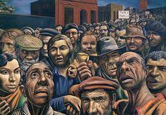 Antonio Berni (1905-1981).  Manifestación, 1934. Arte latinoamericano siglo XX. Malba,