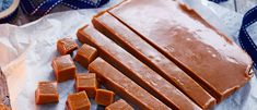 Try our sweet miso caramel recipe. These umami toffees are the perfect combination of sweet and salty. Give these homemade caramels as Christmas gifts Marshmallow Sweets, Vegan Desserts, Dessert Recipes, Miso Recipe, Caramel Candy, Caramel Recipes, Sweet And Salty, Confectionery, Sweet Recipes