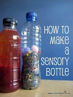 Como hacer una botella sensorial