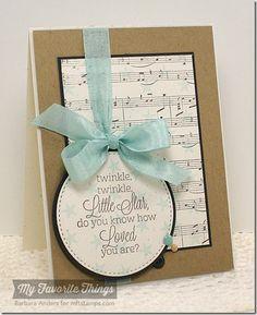 Beautiful Baby, Sheet Music Background, Star Background, Circle STAX Set 1 Die-namics, Stitched Circle STAX Die-namics - Barbara Anders #mftstamps