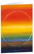 Licht am Horizont - Kunst-Faltkarten ohne Text (5 Stück) (Andreas Felger)