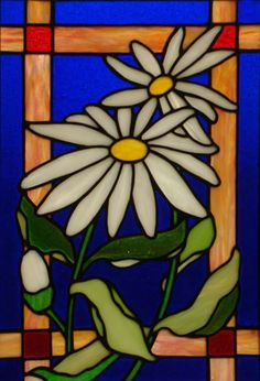 Image of stained glass art titled Daisy