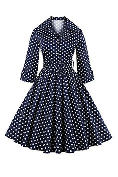 3126d6380ae Elegant Vintage Summer Polka Dot Belted Tunic Pinup Wear To Work Office  Casual Party A Line Skater Dress