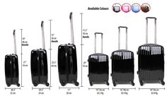 Light Weight Hard Shell 4 Wheel Spinner Suitcase ABS Luggage Trolley Case Cabin