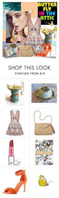 """Butterfly in the Attic !"" by fantasy-rose ❤ liked on Polyvore featuring Alice + Olivia, Mar y Sol, It Cosmetics, Christian Lacroix and Joie"