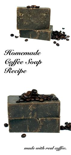 This natural homemade coffee soap recipe is made using real coffee and the cold process soapmaking method and is easy enough for beginner soapmakers.