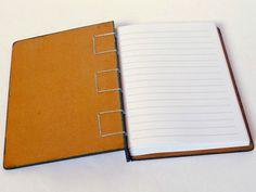 caderno pequeno - capa dura encadernação artesanal belga - 11 x 15 cm 96 folh...