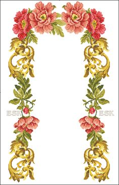 Cross Stitching, Cross Stitch Embroidery, Hand Embroidery, Prayer Rug, Bargello, Rose Bouquet, Needlepoint, Floral Wreath, Projects To Try