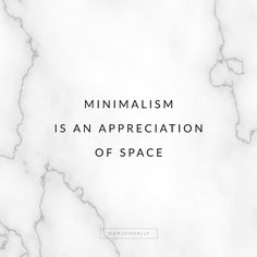 I am a minimalist- I lived out of a suitcase for a few years. Minimalist Quotes, Minimalist Living, Minimalist Lifestyle, Minimalist Interior, Style Minimaliste, Declutter Your Life, Original Quotes, Less Is More, Simple Living