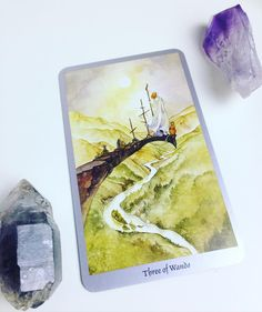 Daily #Tarot Reading for October 10: Three of Wands #Adventure beckons when we encounter the Three of Wands in the Tarot. A figure stands on the edge of a cliff with his eyes on the distant #horizon  from this vantage he can see the #challenges and gifts that lay ahead and plan his route accordingly. Around him he has planted three Wands symbolizing his commitment to this new (ad)venture that is just beginning. Ships traverse the wide ocean below him delivering people and exotic treasures to…