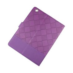 Color Contrast Purple PU Leather Case with Stand for Apple iPad