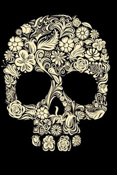 Floral skull wallpaper for iPhone Sugar Skull Wallpaper, Los Muertos Tattoo, Catrina Tattoo, Totenkopf Tattoos, Floral Skull, Candy Skulls, Sugar Skulls, Mexican Skulls, Tattoo Designs And Meanings