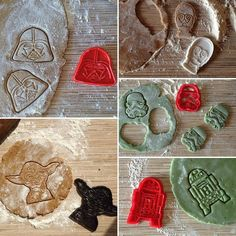 Star Wars cookie cutters. #3dprint #3dprinting #cookies #cookiecutter #madcookies #starwars by oknedida
