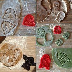 Star Wars cookie cutters. #3dprint #3dprinting #cookies #cookiecutter #madcookies #starwars by oknedida