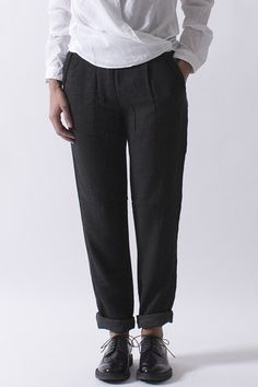 Charcoal Grey Trouser | Pomandere  at Envoy of Belfast  https://www.envoyofbelfast.com/brand/38/pomandere